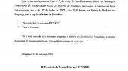 Convocatória Ass Geral Extraordinaria Julho 2017